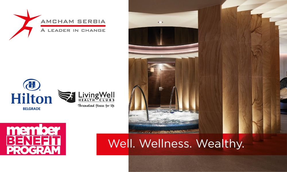 Member Benefit Program: AmCham Corporate Package at Hilton Belgrade/Living Well Health Club