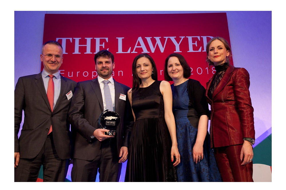 Kinstellar wins 'Law Firm of the Year in Central Europe' at The Lawyer European Awards 2018