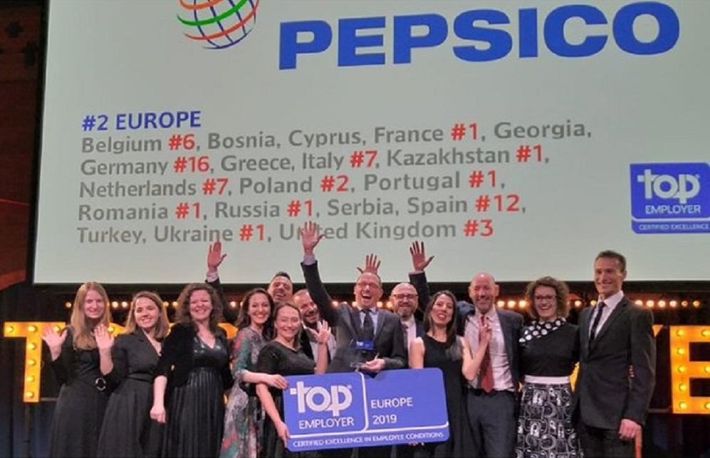 PepsiCo West Balkans awarded recognition as a Top Employer