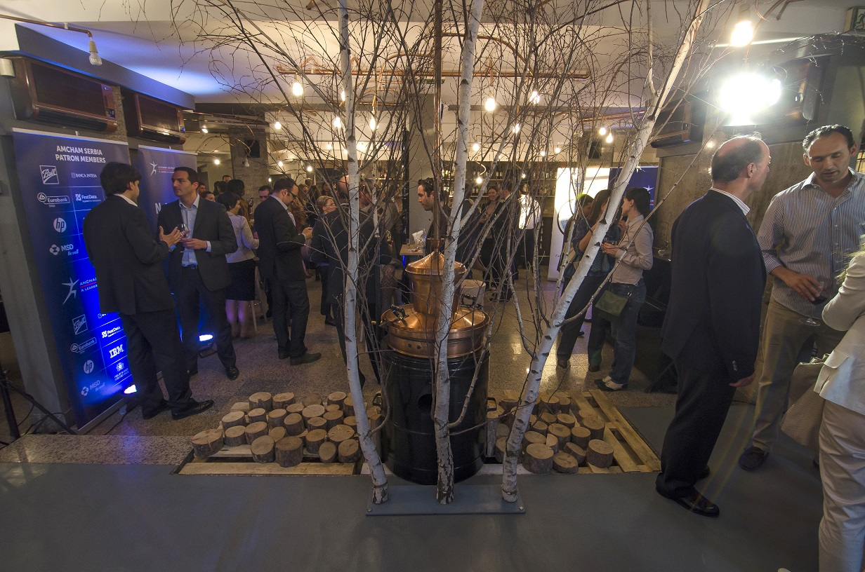 Omnicom Hosted a Business Cocktail Party at Restaurant Destilerija